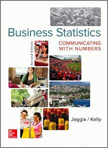 Solution Manual for Business Statistics 2nd Edition by Jaggia